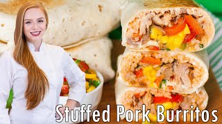 Pork & Pepper Burritos With Mango Salsa