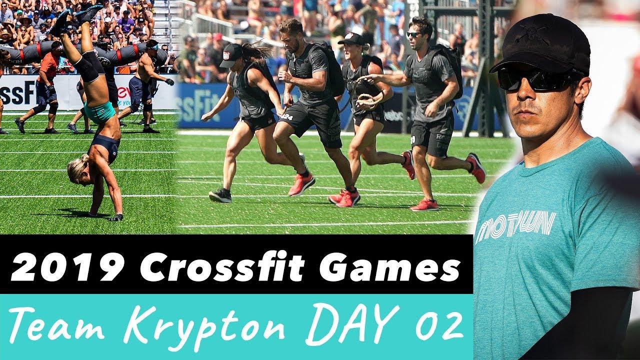 Camillebaz 2019 Crossfit Games Team Krypton Day 2 Youtube