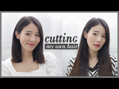 ตัดผมสั้นด้วยตัวเองง่ายๆ cutting my own hair ✂️   Holidear