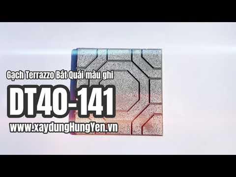 Gạch Lát Sân Vườn Terrazzo Bát Quái Màu Ghi DT40-141 | Gạch Lát Sân Vườn, Gạch Lát Vỉa Hè Hưng Yên