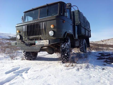 Работа полного привода 4х4 на ГАЗ-66