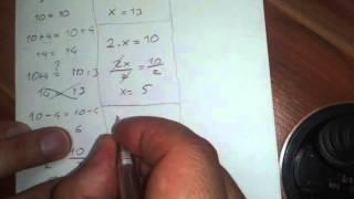 Denklem nasıl çözülür, birinci dereceden denklemler, eşitlikler