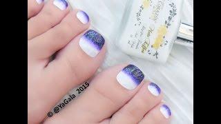 Toe nail art. Gradient / Педикюр-дизайн. Градиент