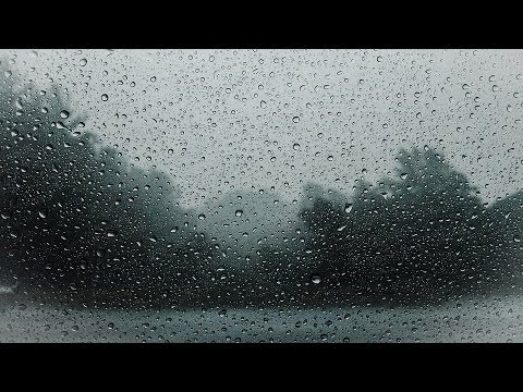 Sleep Well and Heal - Heavy Rain on Glass/Whistling Wind - Helps Insomnia & Anxiety - Black Version