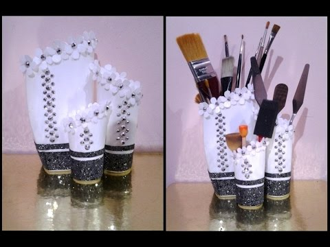 Best out of waste shampoo bottles transformed to classy for Craft using waste bottles