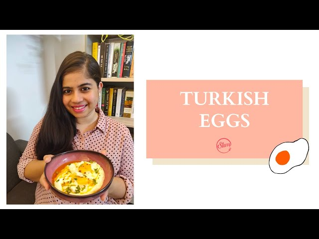 Turkish Eggs Recipe | How To Make Turkish Poached Egg | Turkish Poached Eggs