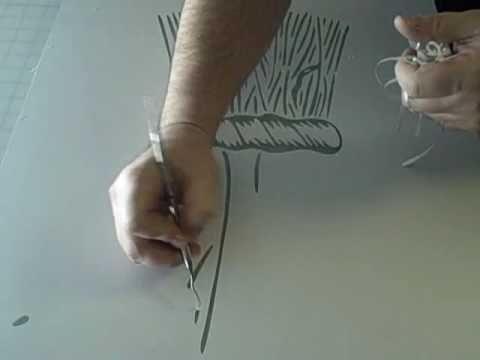 Нанесение пескоструйного рисунка на стекло.flv