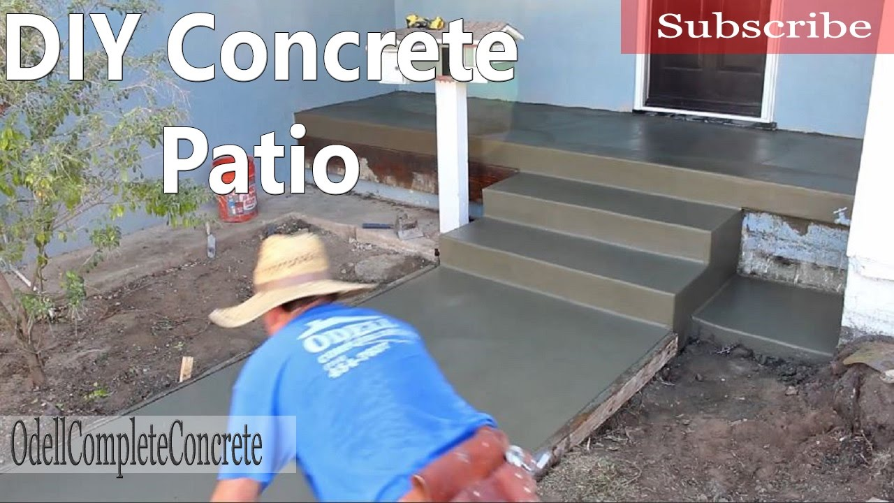 How To Pour A Concrete Patio Youtube