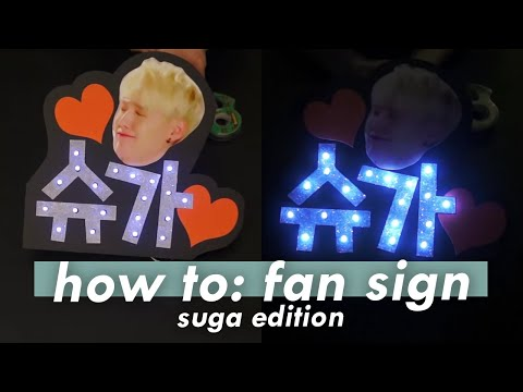 Let's Make a FanSign!! *Suga Edition*