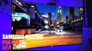 GTA 5 on SAMSUNG KS8500 CURVED PS4 PRO GAMEPLAY
