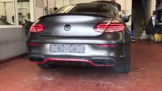 Mercedes-Benz W205 C63S AMG X PP Performance X Fi Exhaust - 640HP Amazing Sound !