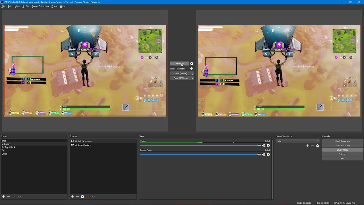 [StreamElements 🚀] Scene Transitions with OBS Studio Mode