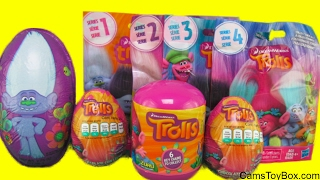 Trolls Surprises Chocolate Easter Eggs Dreamworks Blind Bags Series 1 2 3 4 Names Toys Kids Fun