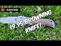 $9.95 Browning Knife Review from Aliexpress