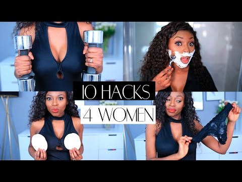 10 HACKS EVERY WOMAN SHOULD KNOW| AIRY VAGINA, BOOB PUMP, POWER POSING & MORE
