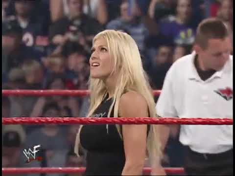WWF Raw Trish Stratus vs Torrie Wilson Paddle Pole Match