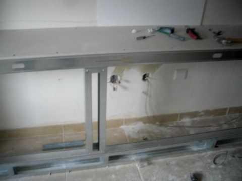 Estrutura para movel em pladur youtube for Montar pared de pladur