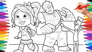 Ralph Breaks the Internet Coloring Pages for Kids, Wreck It Ralph 2 Coloring Pages