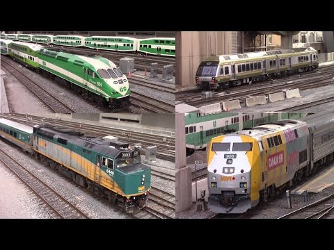Union Station Toronto Western Approach GO Transit / VIA / UP Express April 10 2017
