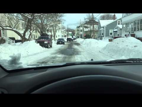 Driving around Bristol RI after the blizzard. 2015
