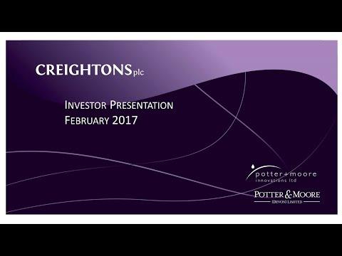 Creightons (CRL) Investor presentation February 2017