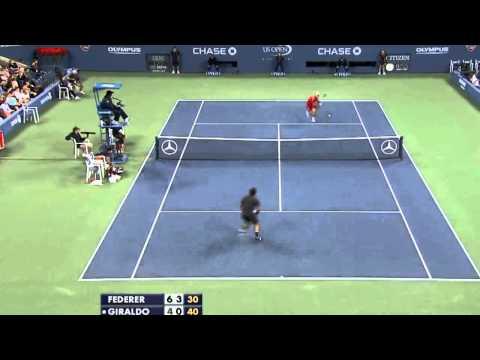R.Federer vs S.Giraldo Us Open 2011 HD