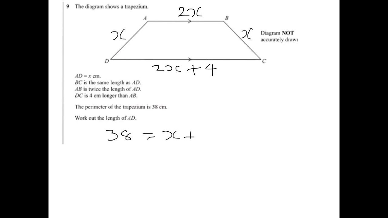 Q9 Forming And Solving Equations
