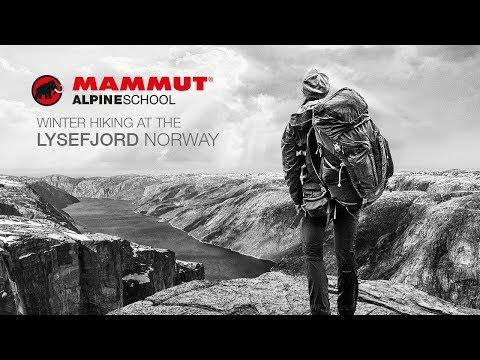 Winter Hiking at the Lysefjord, Norway - Mammut Alpine School