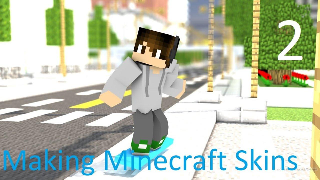 Making Minecraft Skins 2 Grey Hoodie Boy With Headphones Youtube
