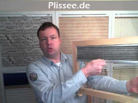 cosiflor plissee vs2 montage in der glasleiste 2 doovi. Black Bedroom Furniture Sets. Home Design Ideas