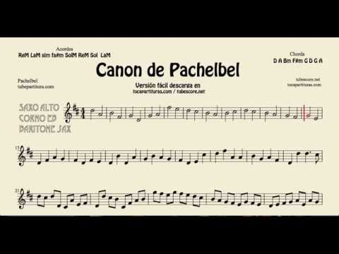 Pachelbel's Canon Sheet Music for Alto Saxophone Baritone Saxophone and Horn Classical Music