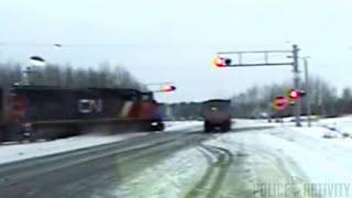 Dashcam Video Shows Train Smashing Into Semi-Truck in Minnesota