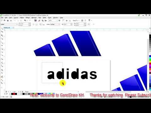 Learn to design Adidas Logo  in CorelDraw x7 | CorelDraw Tutorials