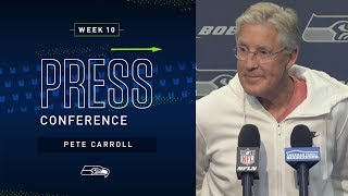 Head Coach Pete Carroll Week 10 Monday Press Conference | 2019 Seattle Seahawks