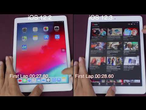 IOS 12.3 Vs IOS 12.2 Speed Test On IPad Pro | ISuperTech