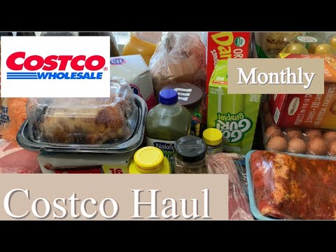 Monthly COSTCO GROCERY HAUL
