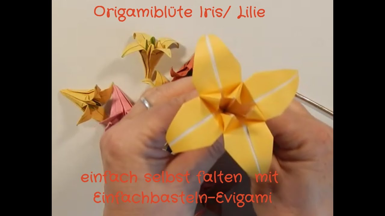 Origami: Watsonia Flower - Instructions in English (BR) - YouTube | 720x1280