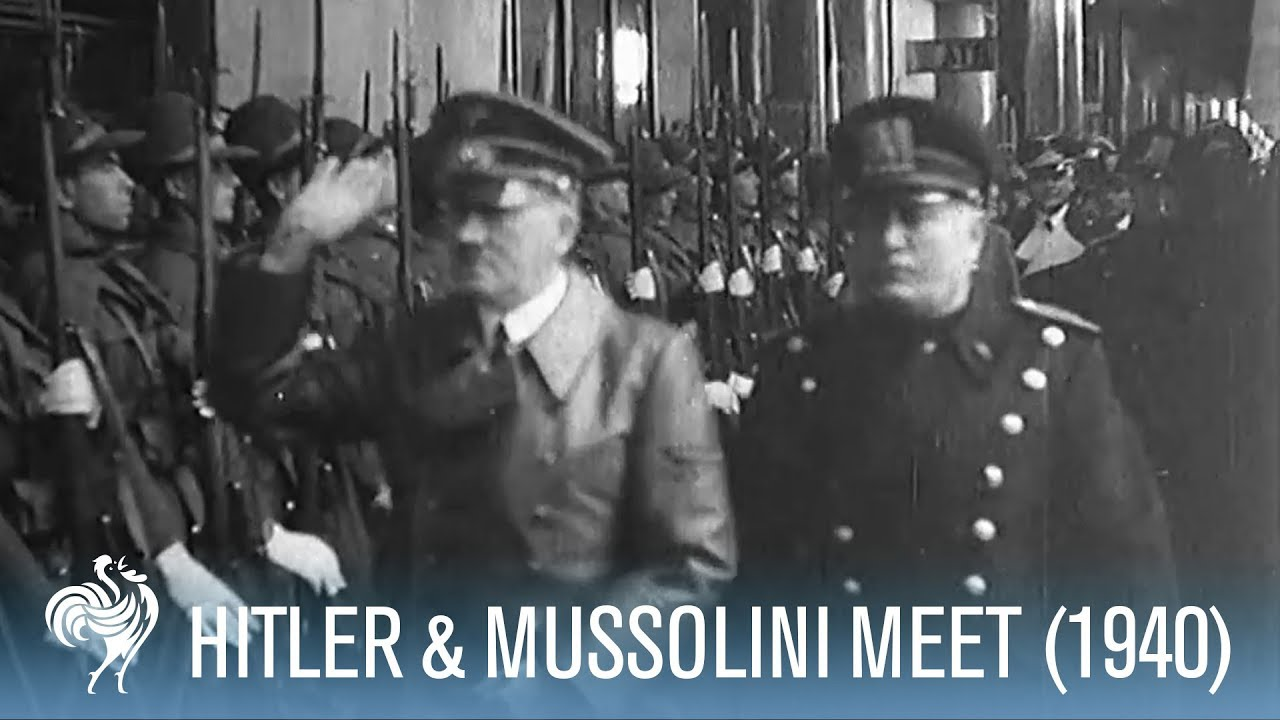 Hitler & Mussolini Meet in the Alps (1940) | War Archives - YouTube