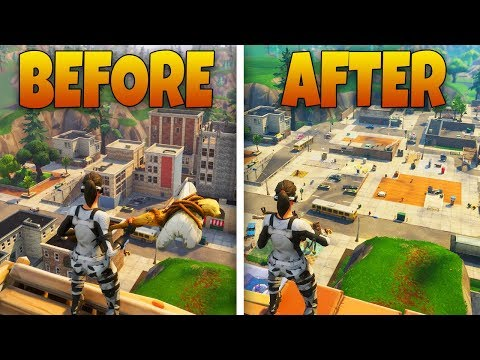DELETING TILTED TOWERS FROM THE MAP - Fortnite Battle Royale New Map