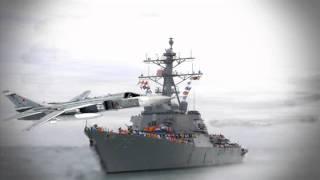 Russian Fighter Jets Make Mock Attack on US War Ship in Black Sea