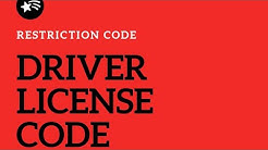DRIVER LICENSE CATEGORY AND RESTRICTION CODE