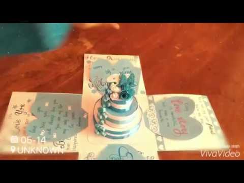 Exploding Gif box/  DIY Surprise cake gift box