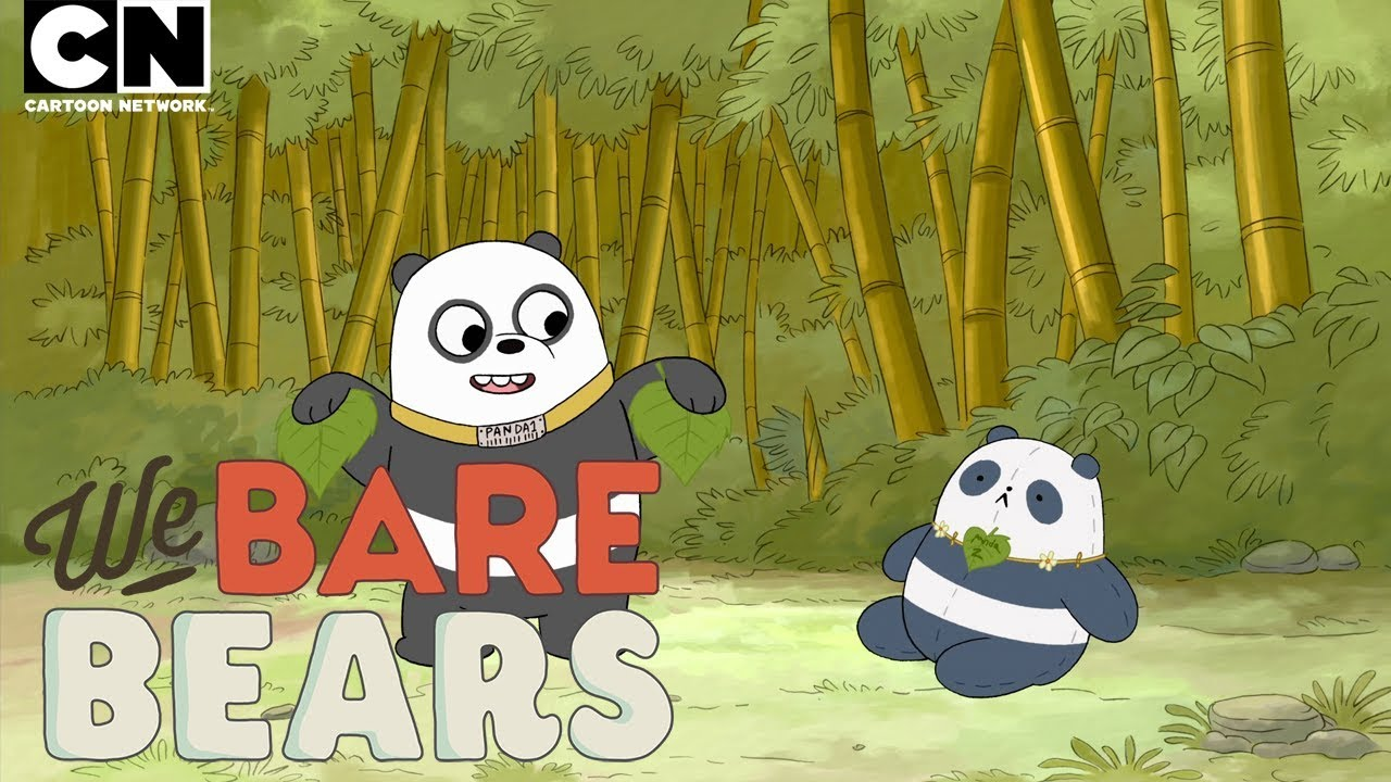 Panda Watches Tv For The First Time We Bare Bears