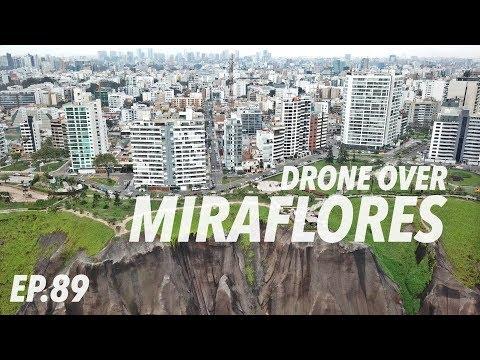 BEAUTIFUL Pacific Coast in Lima (Miraflores drone footage)