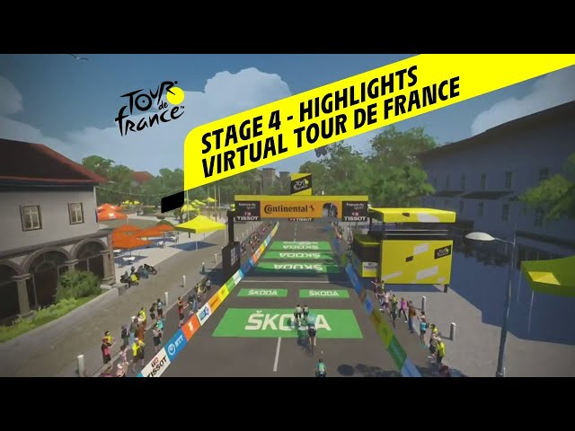 Virtual Tour de France 2020 - Stage 4 - Highlights