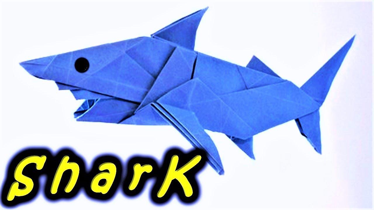 Cool Origami SHARK - Origami easy tutorial - YouTube | 720x1280