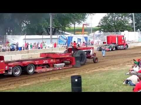 Jacob Kern Tractor Pull at the Dodge County Fair