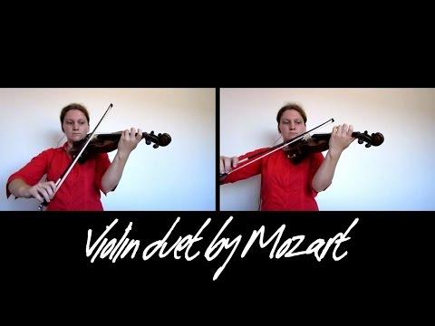 Easy Violin Duet by Mozart nr 2
