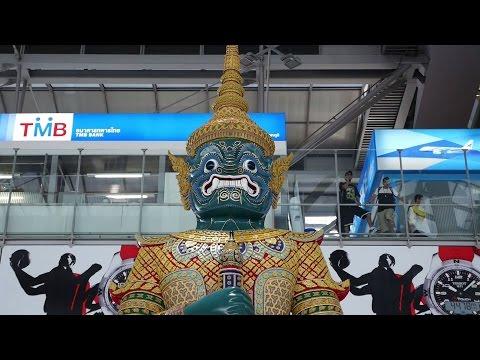 Yaksha Warrior Statue at Airport Bangkok BKK