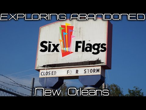 EXPLORING ABANDONED Amusement Park Six Flags New Orleans
